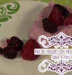 Receta en video Pay de Yogourt con frutos rojos